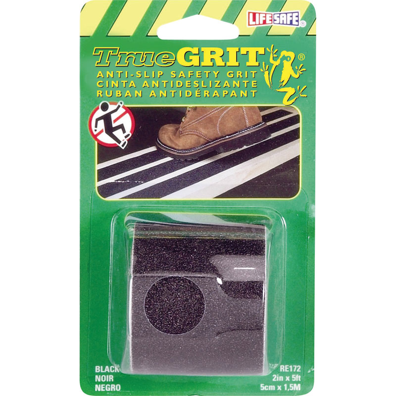 "Life-Safe® Anti-Slip Safety Grit Tape - Black - 2"" x 5'"