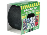"Life-Safe® [RE160] Anti-Slip Safety Grit Tape - Black - 4"" x 60'"
