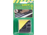 "Life-Safe® Anti-Slip Safety Grit Tape - Black w/ Yellow Stripe - 2"" x 5'"