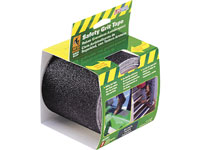 "Life-Safe® Anti-Slip Safety Grit Tape - Black - 4"" x 15'"