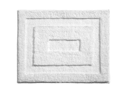 "21"" x 17"" InterDesign Microfiber Polyester Bath & Spa Rug - Small - White"