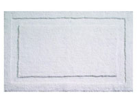 "34"" x 21"" InterDesign Microfiber Polyester Bath & Spa Rug - Large - White"