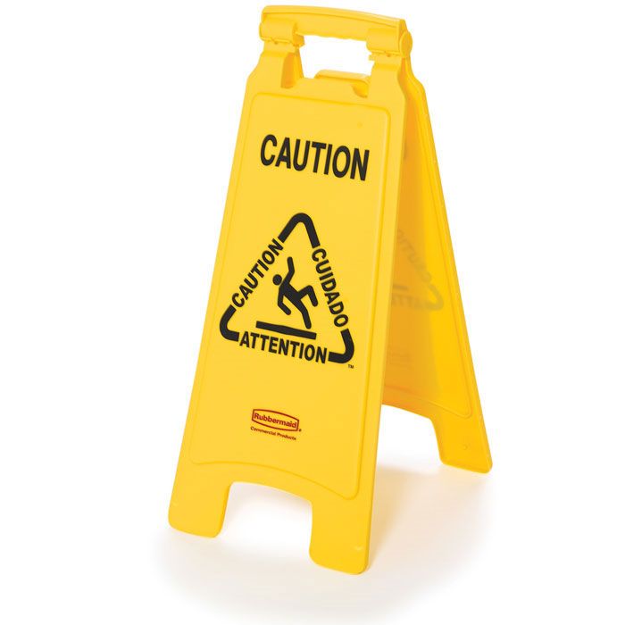 Rubbermaid Commercial Folding Floor Signs - Caution