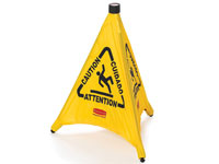 Pop-Up Safety Cone - Caution/Wet Floor (Multilingual) - RCP9S01YEL
