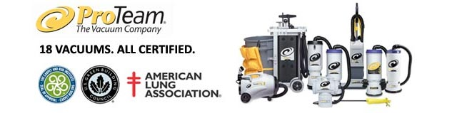 Pro-Team Vacuums - Exceeding All Industry Regulations