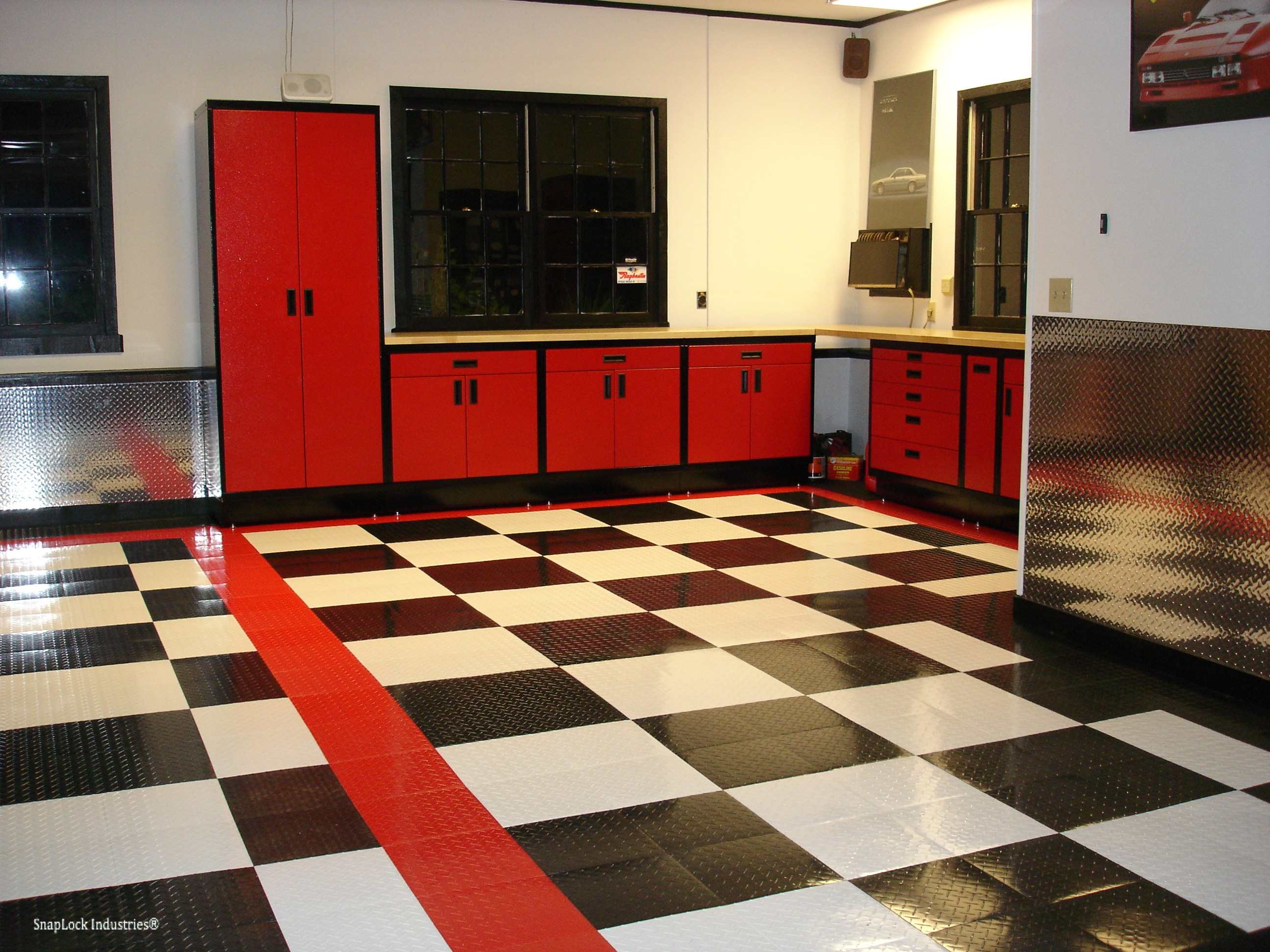 TuffShield RaceDeck Interlocking Garage Tile Mat - FloorMatShop.com - Commercial Floor Matting ...
