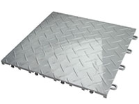Metal Diamond Racedeck Interlocking Garage Tile Mat