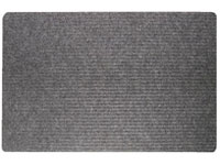 "36"" x 48"" Twin Ribbed Gelfoam Backed Doormat - Dark Gray 623539"