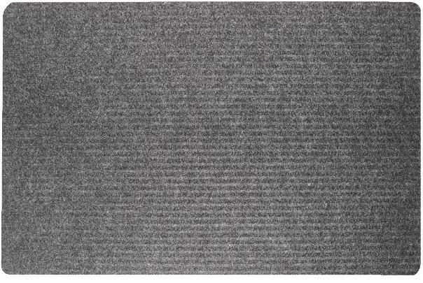 Twin Ribbed Gelfoam High Traffic Area Door Mat - Dark Gray