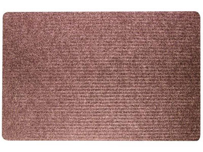 "36"" x 48"" Twin Ribbed Gelfoam Backed Indoor/Outdoor Area Utility Mat - Siamese - Brown"