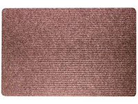 "36"" x 48"" Twin Ribbed Gelfoam Backed Utility Mat - Siamese - Brown 623563"