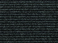 "24"" x 36"" Twin Ribbed Vinyl Backed Indoor/Outdoor Area Utility Mat - Survivor - Black"