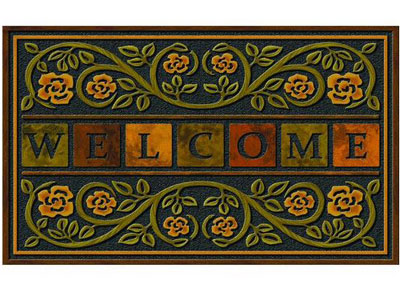 "22"" x 36"" Masterpiece Ricardo Welcome Door Mat - Heavy Weight"