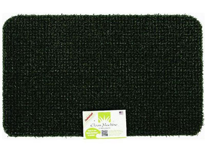 "17.5"" x 29.5"" Grassworx Clean Machine® Plus Astroturf Entrance Scraper Doormat - Hunter Green"