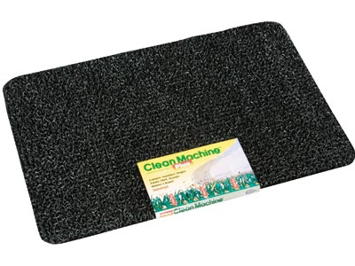 "17.5"" x 29.5"" Grassworx Clean Machine® Plus Astroturf Entrance Scraper Doormat - Cinder"