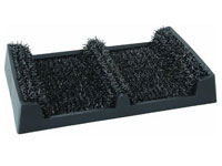 "16.5"" x 10.25"" Grassworx Clean Machine® Shoe & Boot Scraper - Black"