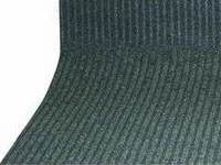 "36"" x 82' Twin Ribbed Gelfoam Backed Runner Mat - Siamese - Dark Gray 276748"