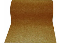 "36"" x 82' Twin Ribbed Gelfoam Backed Indoor/Outdoor Floor Runner - Brown 276882"