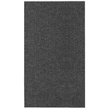 "26"" x 100' Single Ribbed Persian Carpet Runner - Black 273678"
