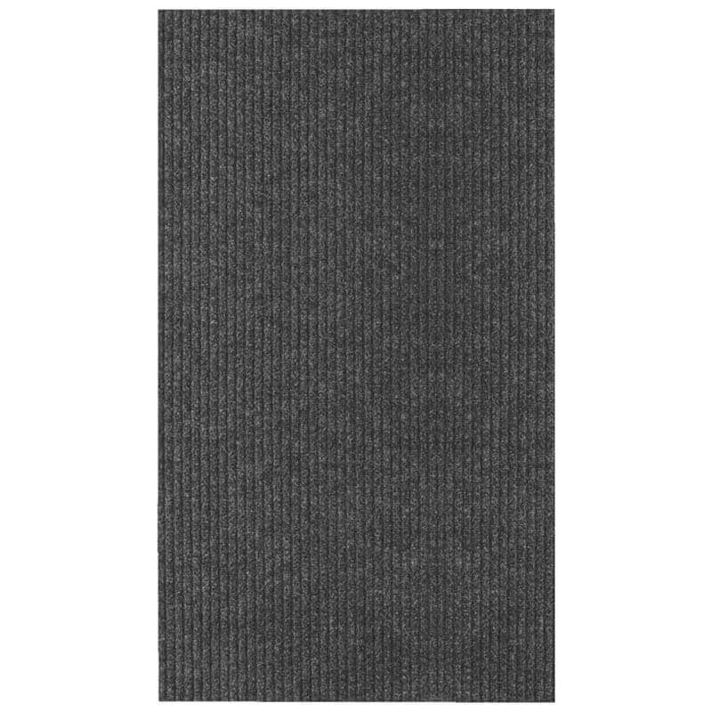 "26"" x 100' Single Ribbed Carpet Runner - Persian - Black"