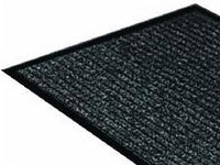 "36"" x 60"" Twin Ribbed Vinyl Backed Indoor/Outdoor Floor Runner - Black 623091"