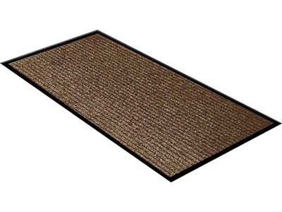 "36"" x 60"" Twin Ribbed Vinyl Backed Indoor/Outdoor Floor Runner - Survivor - Brown"