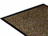 "36"" x 60"" Twin Ribbed Vinyl Backed Indoor/Outdoor Floor Runner - Survivor - Brown 623326"