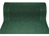 "27"" x 100' Single Ribbed Carpet Runner - Persian - Green"