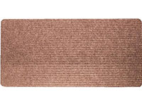"24"" x 60"" Twin Ribbed Gelfoam Back Floor Runner - Brown"