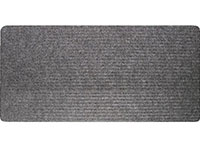 "24"" x 60"" Twin Ribbed Gelfoam Backed Floor Runner - Dark Gray"