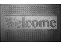 "Dennis Funtional Rubber Welcome Door Mat - 18"" x 30"" 628191"