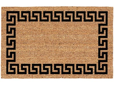 "19.5"" x 29.5"" Greek Key Decoir Brush Entrance Doormat"