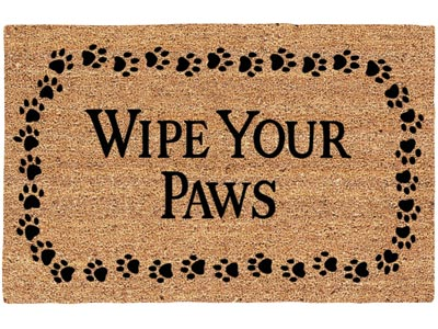 "19.5"" x 29.5"" Wipe Your Paws Decoir Brush Entrance Doormat"