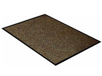 "17"" x 29"" Twin Ribbed Vinyl Backed Indoor/Outdoor Utility Entrance Mat - Survivor - Brown"