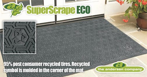 Andersen [554] Super Scrape™ ECO Indoor/Outdoor Slip-Resistant Entrance Floor Mat - Black