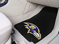 Baltimore Ravens NFL Football Logo Car Floor Mats - Carpet - 2 Piece Set