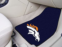 Denver Broncos NFL Football Logo Car Floor Mats - Carpet - 2 Piece Set