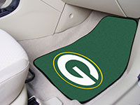 Green Bay Packers NFL Football Logo Car Floor Mats - Carpet
