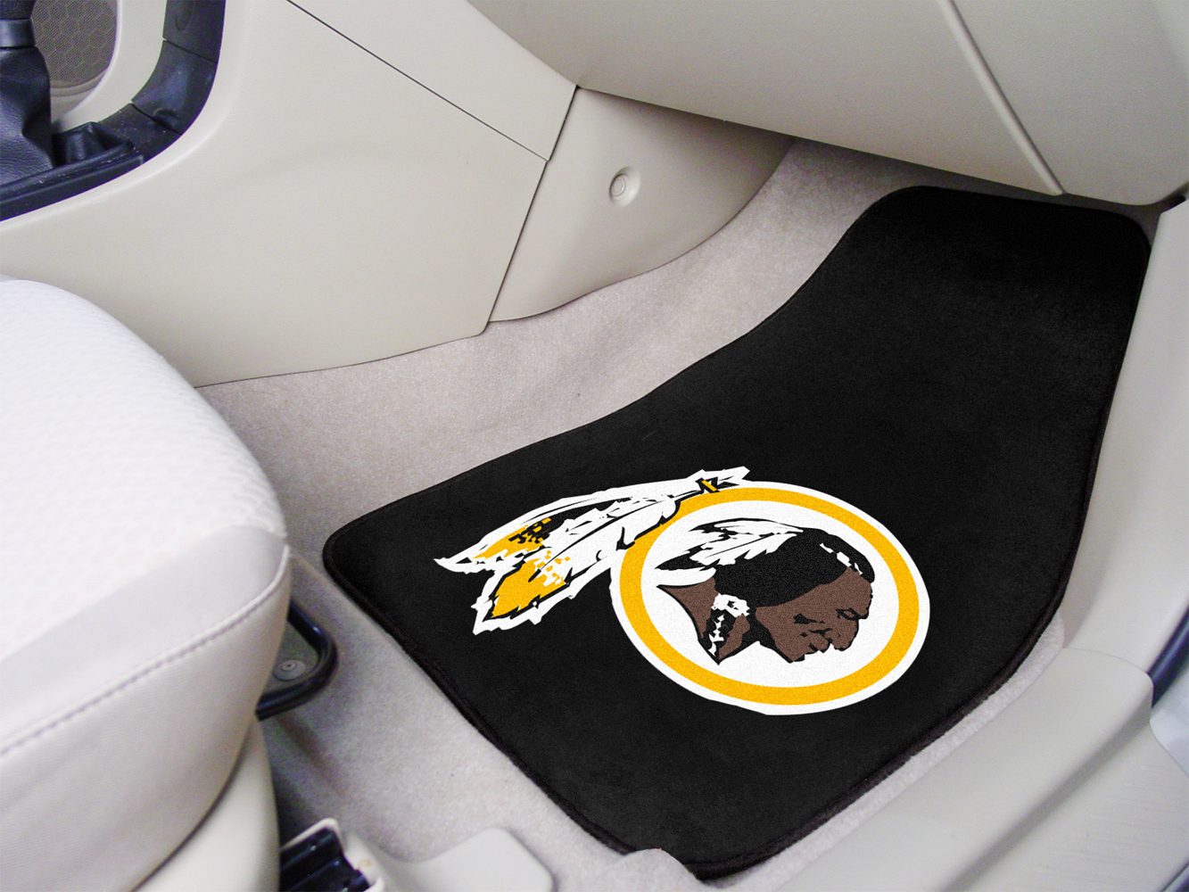Astounding Washington Redskins Nfl Logo Carpet Car Mats 2 Piece Set Squirreltailoven Fun Painted Chair Ideas Images Squirreltailovenorg