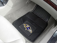 Baltimore Ravens NFL Football Logo Car Floor Mats - Heavy-Duty Vinyl