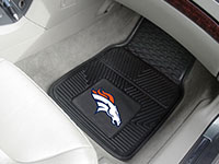 Denver Broncos NFL Football Logo Car Floor Mats - Heavy-Duty Vinyl