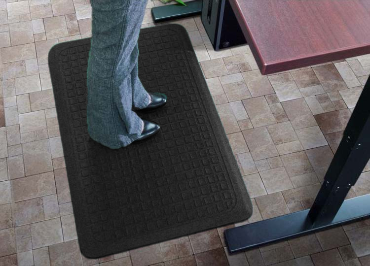 Get-Fit Stand Up Anti-Fatigue Desk Mat - Rubber Top AM-4447