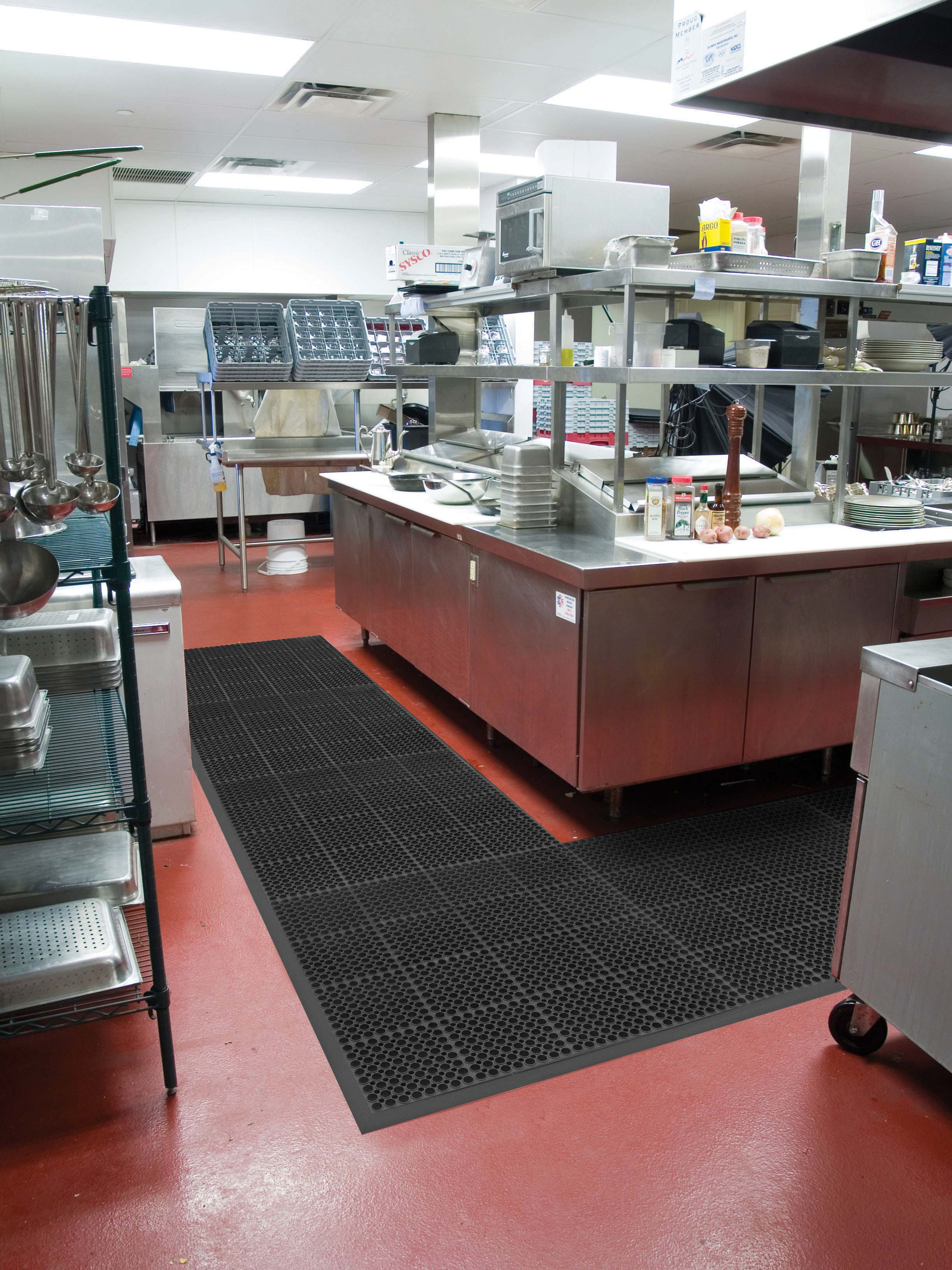 San-Eze Anti-Fatigue Kitchen Floor Mat - Wet Area - 7/8 ...
