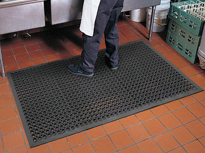 Tek-Tough Jr. Anti-Fatigue Kitchen Floor Mat - 1/2\