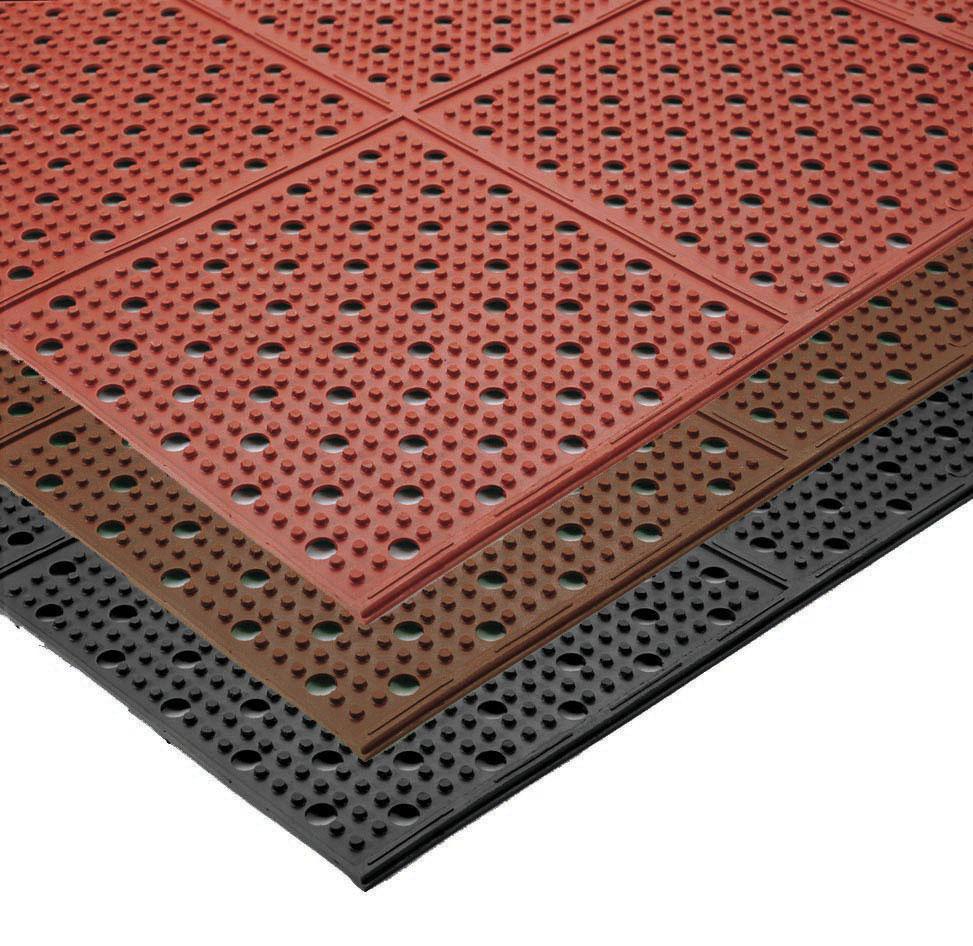Industrial Floor Mats: Multi-Mat II Reversible Drainage Anti-Fatigue Floor Mat