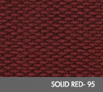 Andersen [2282] Berber Roll Goods Scraper/Wiper Entrance Mat – Solid Red - 95