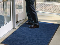Legacy Classic Scraper/Wiper Indoor/Outdoor Entrance Mat - Rubber Border - 3/8""