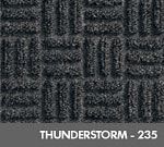 Andersen [265] WaterHog™ Masterpiece™ Select Indoor Scraper/Wiper Entrance Floor Mat - Thunderstorm - 235