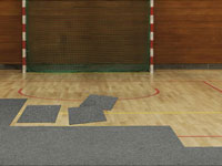 Indoor Safety Floor Interlocking Tiles