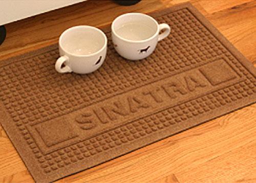 pet squares personalized logo mat floormatshop com commercial
